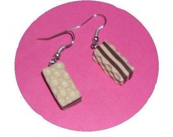 All wafer chocolate earrings polymer clay