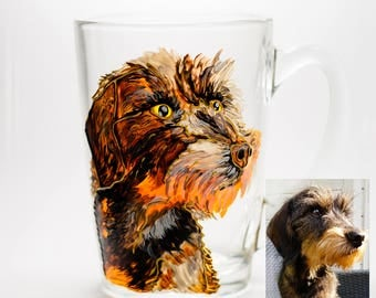 Custom Dog Mug Portrait from Photo Dog Coffee Mug Personalized Pet Loss Gift Memorial Coffee Cup