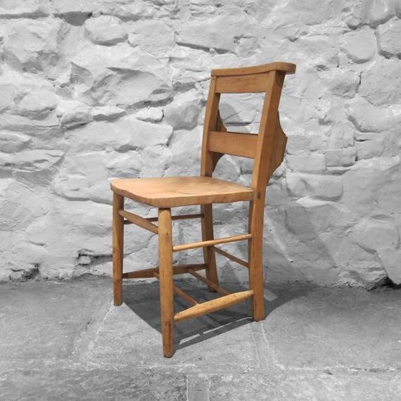 Oak Chapel Chair Vintage Church