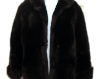 Mouton Fur Stroler Mid Century Brown M