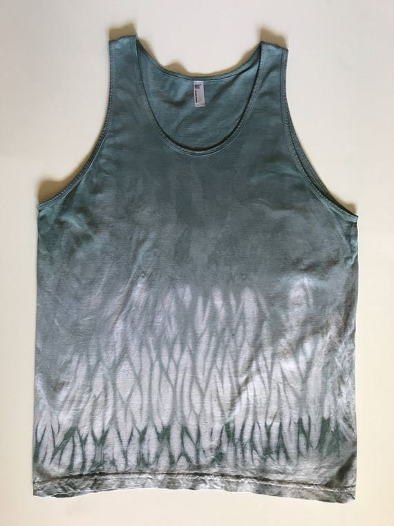 L Gray Green Arashi Tank Top