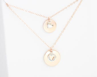 Mother Daughter Necklace Set, Heart Necklace, Smooth, Mothers Day, Sterling Silver, Rose Gold, Gold, Mixed Metal, New Mom, Mother of Bride