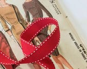 Red and White Grosgrain R...