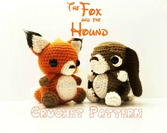Crochet The Fox and The Hound Patterns  - PATTERNS ONLY