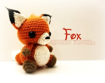 Crochet Fox Pattern  - PATTERN ONLY