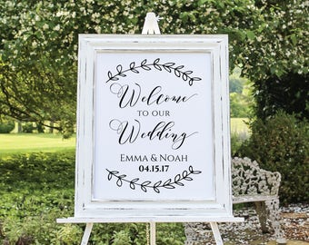 Welcome to Our Wedding Sign, Editable Welcome Wedding Printable, Welcome Wedding Poster Sign. Custom Welcome Sign, Instant Download. WC3