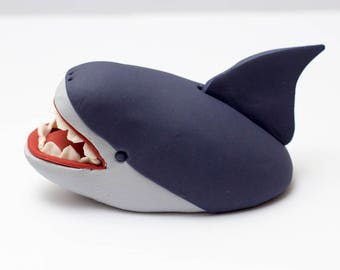 Fondant shark cake topper - Earliest possible estimated arrival: October 20th