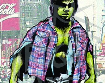 """The Incredible Hulk Lou Ferrigno 11"""" x 17"""" Original Art Print/Poster"""