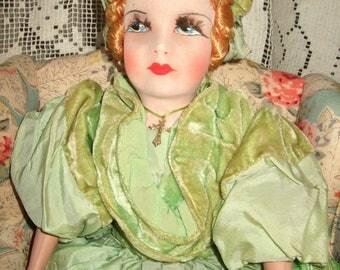 Beautiful, All Original, Small Antique French Boudoir Doll, circa 1920's