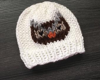 Custom Owl Baby Hat - Knitted Baby Hat - Wilderness Animals - Baby Beanie - Newborn Photo Prop - Baby Shower Gift