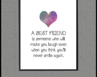 Friendship Quote, Best Gift, Friendship Sayings, Best Friend Distance, Best Friend Decor, Friend Gift Best, Long Distance, Moving Away