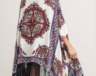 bohemian kimono, Boho kimono, boho clothing, kimono robe, kimono cardigan boho, shawl, wrap, bohemian