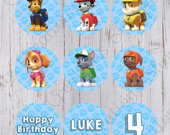 Paw Patrol Birthday Cupcake Toppers