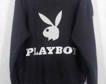 Vintage Playboy Embroidered Big Bunny Rabbit Head Sweater Sweatshirt Size Large L / Playboy Sweater / Playboy Sweatshirt