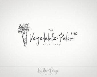 Premade Food Logo, Food Blog Logo, Vegan Logo, Nutrition Logo, Vegetable Logo, Organic Logo, Foodie Logo, Catering Logo,