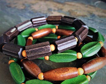 Stacking Earthy Wood Bracelets