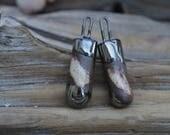 Handgefertigte dunkel Steinzeug paar