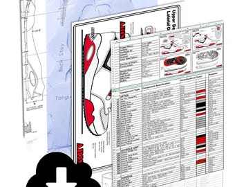 Complete Shoe Specification Drawing