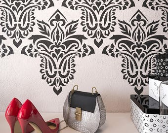 Large Wall Stencil Etsy - Giant wall stencil