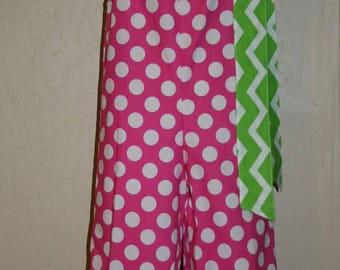 Polka dots & Chevron Pillowcase Romper