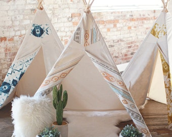 Kids Teepee Southwest - Childrens teepee tent, play tent, tipi, nursery decor, boys teepee, playroom, gender neutral, toddler gift