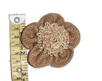 Burlap Flowers, Burlap Rustic Decorations,Jute flowers applique,flower accessories,Wedding flowers-Price for 02 Patch-Diameter 2 inch-IDE88