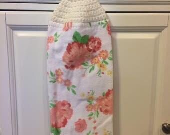 Boho Kitchen Decor   Bohemian Kitchen Towels   Hanging Kitchen Towels   Floral  Kitchen Decor