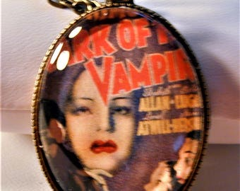 Goth 1935 Mark of The Vampire Movie Poster Necklace