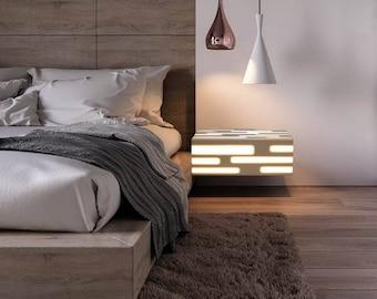 Modern Nightstand, Floating Nightstand, Floating Night Stand, Modern Floating Night Stand, Contemporary Nightstand, Modern Bedside Table