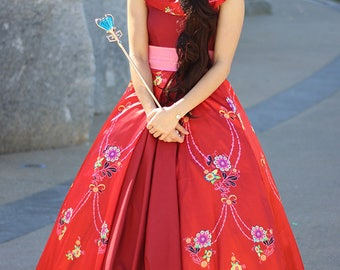 Princess Elena from Disney Elena of Avalor Costume/Cosplay for Adult or Child