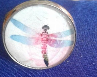Pretty pink and blue Dragonfly ring