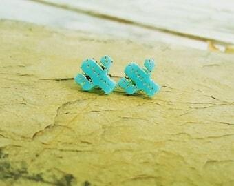 Cute Little Cactus Earrings - Cactus Love - Cactus Stud Earrings - Cactus Earrings