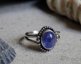 Tanzanite Skies Collection; Tanzanite Ring, Stacking Ring, Sterling Silver, December Birthstone, Birthstone Jewelry, Birthstone Ring, Size 8