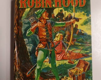 The Merry Adventures of Robin Hood by Howard Pyle Whitman Classics 1955 Vintage Hardcover Kids Book