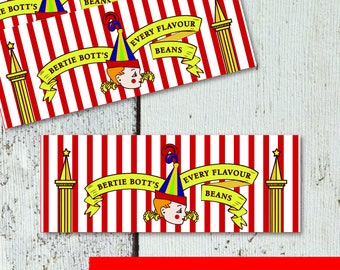Bertie Botts Every Flavor Beans Label Printable