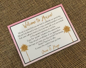 Destination Wedding Welcome Letter, Welcome Note, Destination/Beach Wedding Customizable, Welcome Letter, Wedding Welcome, Welcome Note