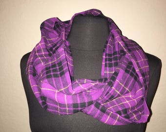 Repurposed/ Upcycled Infinity Scarf