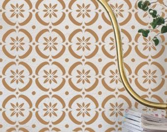 FLOWER POWER Moroccan Wall Furniture Craft Floor Stencil - FLOW01