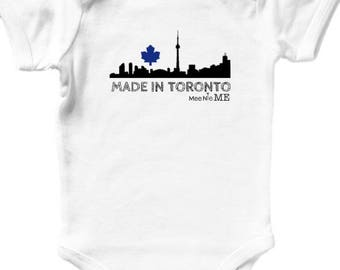 Baby birthday gifts etsy made in toronto canada skyline custom baby onesie birth announcement pregnancy announcement hipster baby shower gift negle Images