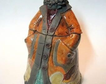 Pepperland Resident- Handmade and Raku Fired Studio Pottery Jar