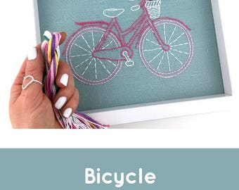Bicycle Embroidery Kit : LIMITED EDITION COLOUR