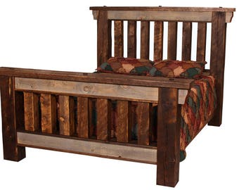 Big Timber Bed, Reclaimed Wood Bed, Rustic Bed