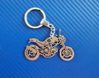 Ducati Monster BIKE Keychain, Personalized Keychain, Motorcycle Keychain, Keychain for Ducati Bike, Stainless Steel, Custom Keyring