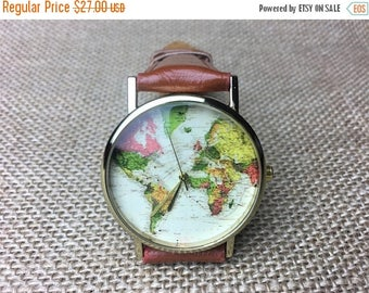 Watch with Free engraving watch, world map watch, watches for men, watches for women, black watch, design watch,