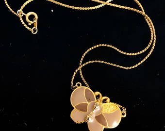 vintage butterfly necklace ~ 70s jewelry