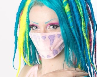 Pink and Purple Soft Face Mask