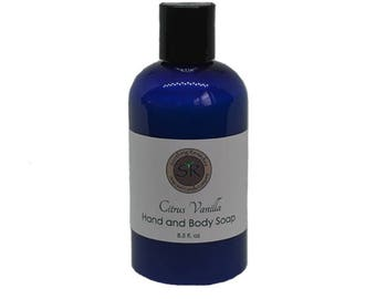 Handcrafted hand and body soap