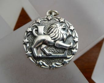 Vintage Sterling by Bell Leo the Lion Charm/Sterling Silver Leo Charm/Bell Trading Post Sterling Leo Pendant/Leo Pendant Charm/Leo The Lion