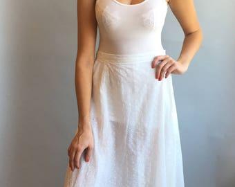 VTG White Eyelet Maxi Skirt