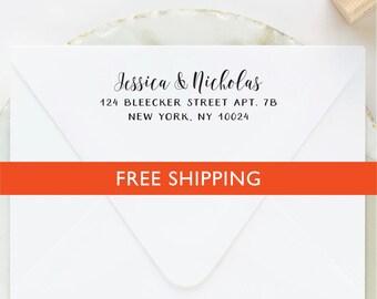 Custom Address Stamp, Self Inking Address Stamp, Self Ink Return Address, Custom Stamp, Personalized Stamp, Wedding Stamp, Calligraphy Stamp
